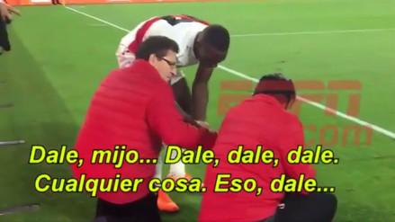 El compromiso con la Selección reflejado en esta acción de Luis Advíncula