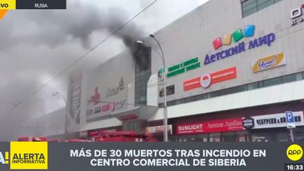 Un incendio en centro comercial de Siberia deja 37 muertos