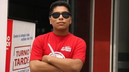 Flavio Valenzuela, el joven invidente que ingresó en primer puesto a la carrera de derecho en San Marcos