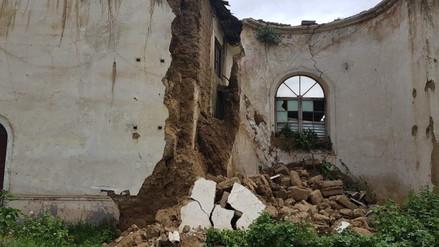 Lluvias provocaron colapso de pared de iglesia Pichcus en Huancayo