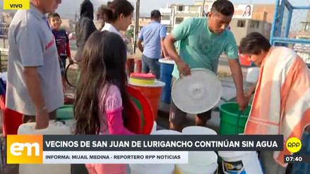 Vecinos de San Juan de Lurigancho continúan sin agua