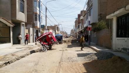 Vecinos de Monsefú piden culminación de obra de saneamiento