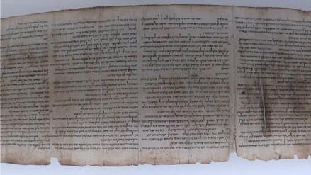 Israel revela fragmento de los Rollos del Mar Muerto que narra la historia de Noé tras el diluvio