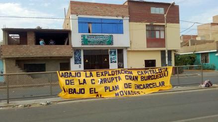 Policía investiga aparición de banderola con letras de Movadef