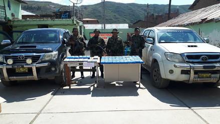 Incautan 60 kilos de clorhidrato de cocaína en Chumbivilcas