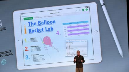 """Apple presentó un iPad """"low cost"""" enfocado a los estudiantes"""