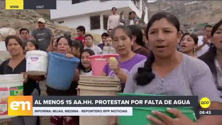 Vecinos denuncian que cinco mil familias de Villa María del Triunfo no cuentan con agua potable