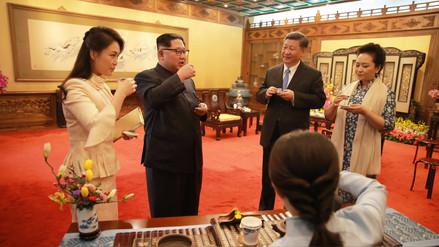 Vino, banquete y lujos recibieron a Kim Jong-un en China