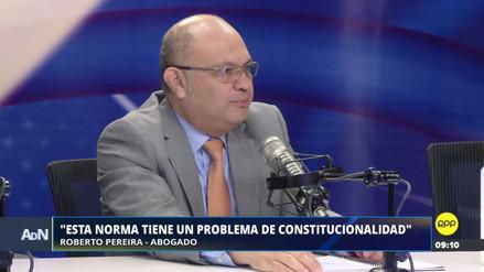 Ley Mulder tiene dos problemas de inconstitucionalidad, según abogado