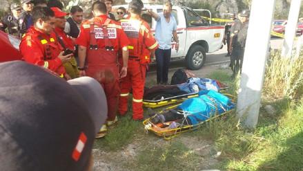 Tres muertos y dos heridos dejó accidente en la vía Huanta - Huamanga