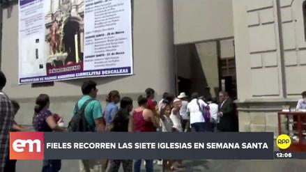 Miles de fieles recorren las iglesias del Centro de Lima por Jueves Santo