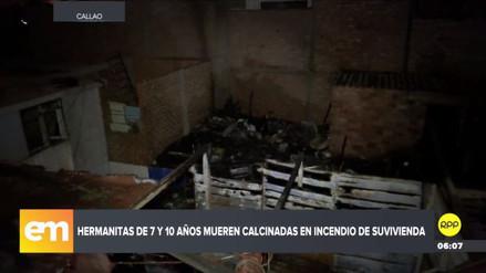 Dos niños murieron calcinados en un incendio en una quinta del Callao