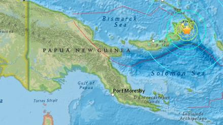 Un terremoto de magnitud 6.9 sacudió el este de Papúa Nueva Guinea