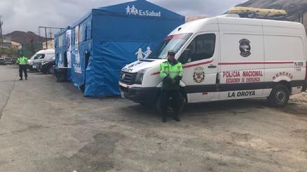 La Oroya: carpas de auxilio atendieron más de 400 emergencias de turistas