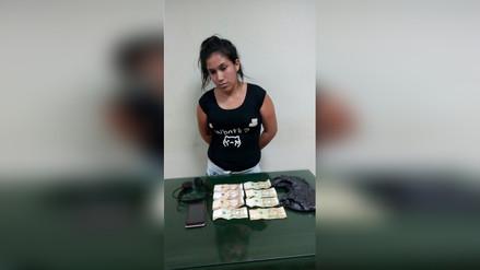 Detienen a mujer por presunta extorsión a empresario de Chiclayo