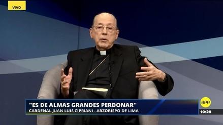 """El cardenal Cipriani pidió que Martín Vizcarra procure """"llevar la paz"""" a los hogares del Perú"""