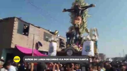 Señor de Luren recorrió Ica con ocasión de la Semana Santa