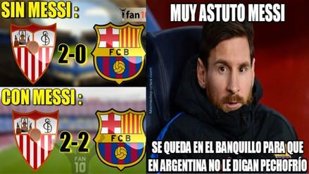 Barcelona es protagonista de memes tras empatar con el Sevilla