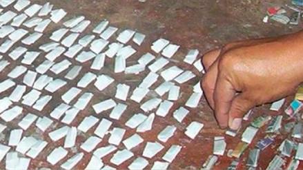 Capturan en Chiclayo a mototaxista portando 260 ketes de droga