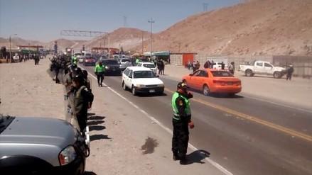 Se normaliza el tránsito en la Panamericana Sur tras 6 horas de bloqueo