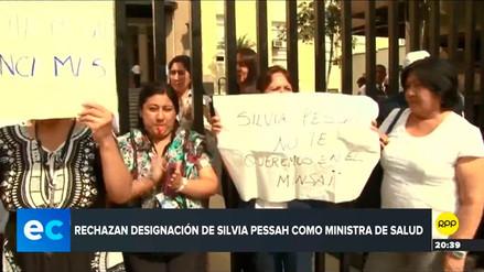 Médicos del Minsa protestaron frente a sede ministerial por designación de Silvia Pessah