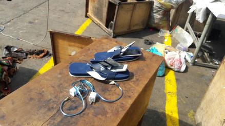 Internos escondían celulares en sus sandalias