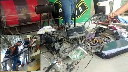 Desarticulan clan familiar que desmantelaba vehículos menores en Piura