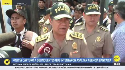 La Policía frustró el asalto a una agencia bancaria de Barranco