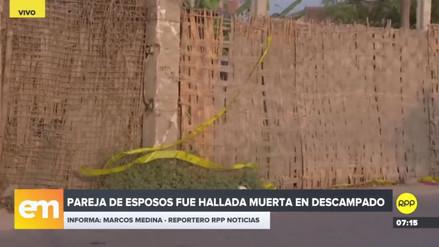 Torturan y matan de varios balazos a una pareja de esposos en Carabayllo