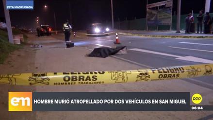 Un hombre murió arrollado por una moto y una camioneta en San Miguel