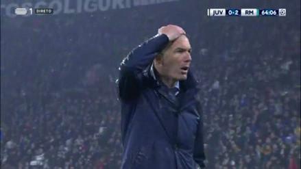 Mira la reacción de Zinedine Zidane tras el golazo de Cristiano Ronaldo