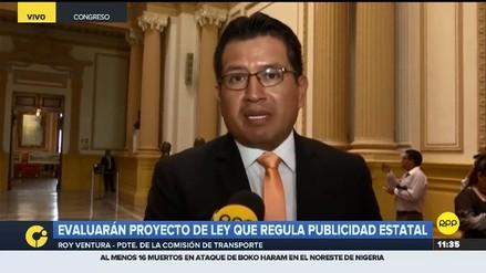 """Presidente de la Comisión de Transportes dijo que """"buscarán consensos"""" en el proyecto sobre publicidad estatal"""