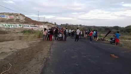 Paro y bloqueos en distrito de La Unión por obra de saneamiento
