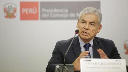 César Villanueva niega haber consultado a Fuerza Popular sobre su Gabinete