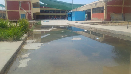 Diez colegios estatales de J.L. Ortiz con problemas de colapso de desagües