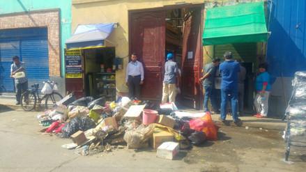 Comerciantes realizan limpieza del Mercado Central de Chiclayo