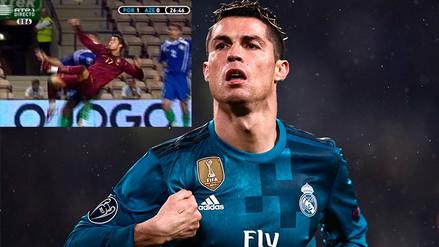 Video | Mira el primer gol de chalaca que hizo Cristiano Ronaldo