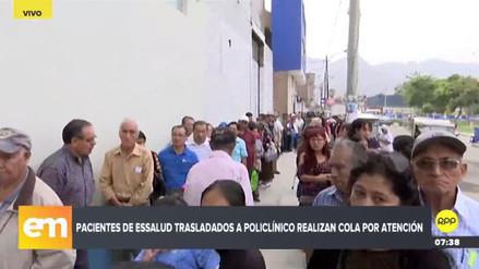 Policlínico de EsSalud de Comas no se da abasto para atender a cientos de asegurados