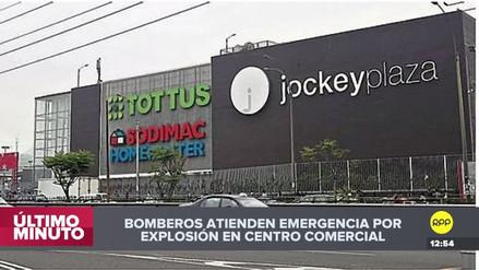 Un hombre murió por una explosión dentro del Jockey Plaza