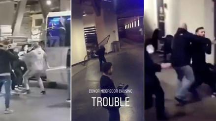 Conor McGregor se volvió loco y atacó un bus de la UFC