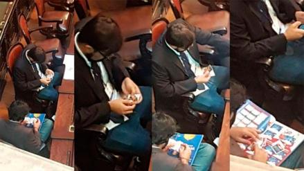 Asesores de la Asamblea de Río de Janeiro cambiaron figuritas en pleno debate