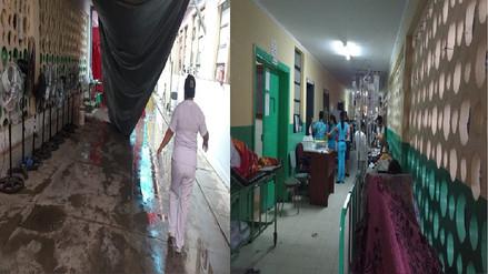Carpas de Hospital Sullana colapsan por fuertes lluvias
