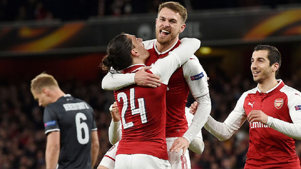 Arsenal goleó al CSKA Moscú con doblete de Aaron Ramsey