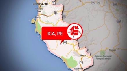 Sismo de 5.4 grados remeció las costas de Ica