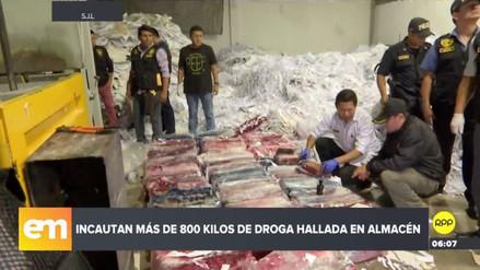 La Policía incautó más de 800 kilos de droga en un almacén de San Juan de Lurigancho