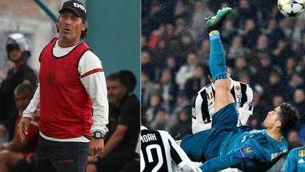 Pedro Troglio señaló que su chalaca fue mejor que la de Cristiano Ronaldo