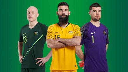 Australia, rival mundialista de Perú, presentó su uniforme para Rusia 2018
