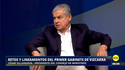 """Villanueva: """"Mi posición y la de la mayoría de quienes estamos en este Gobierno es de centro"""