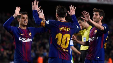 Barcelona venció al Leganés con triplete de Messi y sumó 38 partidos sin perder