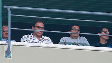 El presidente Martín Vizcarra asistió al partido entre Sporting Cristal y Alianza Lima